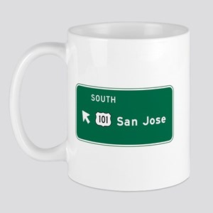 San Jose, CA Highway Sign Mug