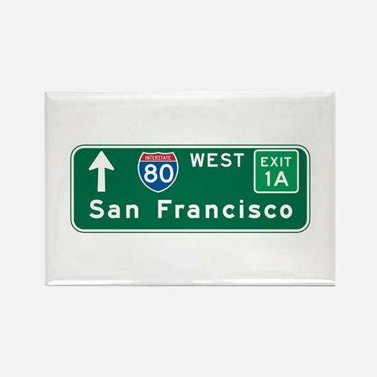 San Francisco, CA Highway Sign Rectangle Magnet (1