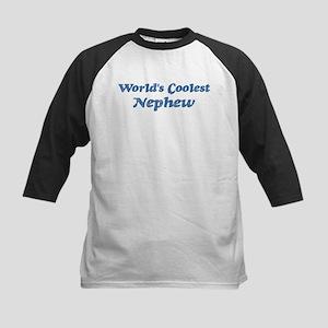 Worlds Coolest Nephew Kids Baseball Jersey
