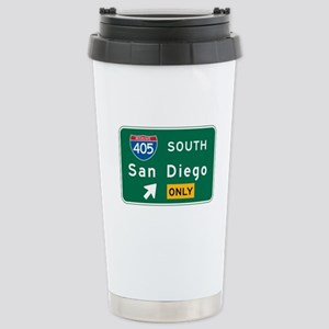 San Diego, CA Highway Sign Stainless Steel Travel