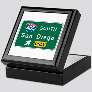 San Diego, CA Highway Sign Keepsake Box