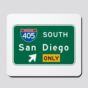 San Diego, CA Highway Sign Mousepad