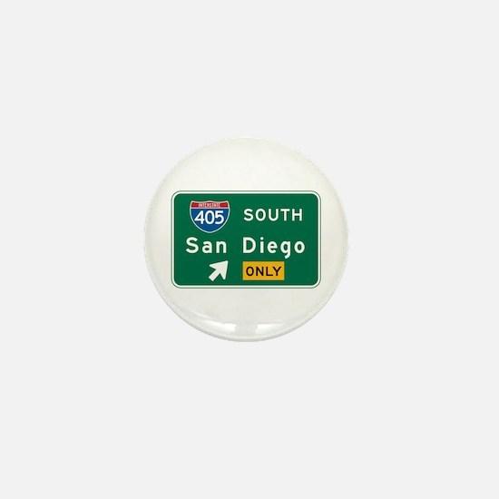 San Diego, CA Highway Sign Mini Button