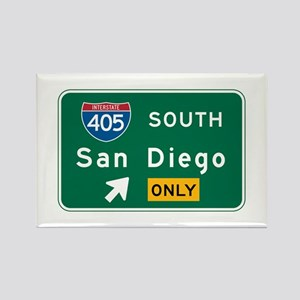San Diego, CA Highway Sign Rectangle Magnet