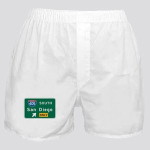 San Diego, CA Highway Sign Boxer Shorts