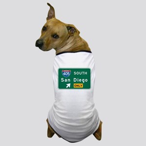 San Diego, CA Highway Sign Dog T-Shirt