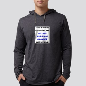 awesome second assistant manager Mens Hooded Shirt