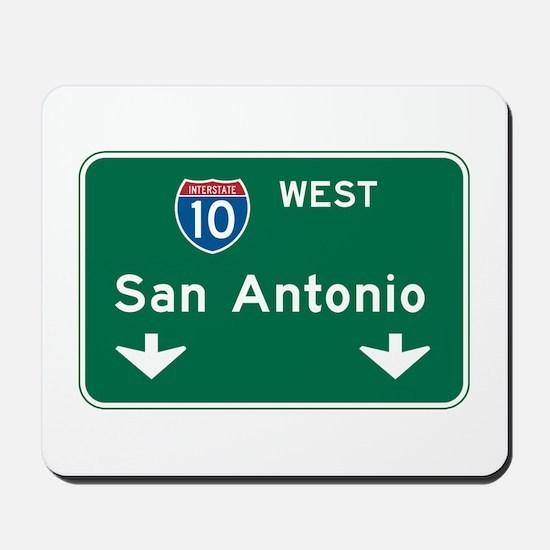San Antonio, TX Highway Sign Mousepad