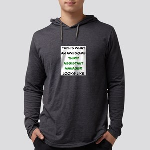 awesome third assistant manager Mens Hooded Shirt