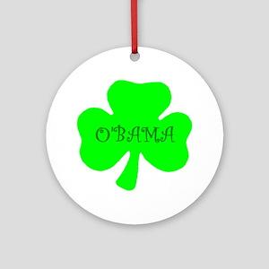 O'bama Irish Design Ornament (Round)