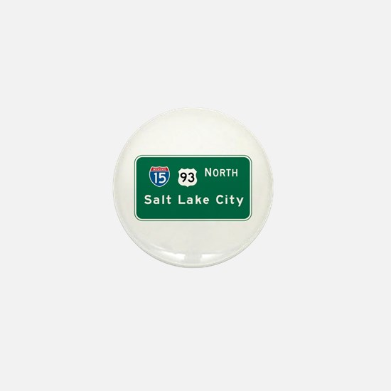Salt Lake City, UT Highway Sign Mini Button
