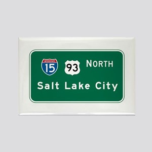 Salt Lake City, UT Highway Sign Rectangle Magnet