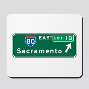 Sacramento, CA Highway Sign Mousepad
