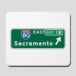 Sacramento, CA Highway Sign Mousepad