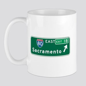 Sacramento, CA Highway Sign Mug
