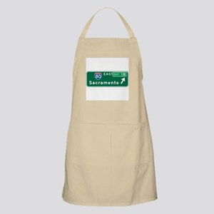 Sacramento, CA Highway Sign BBQ Apron