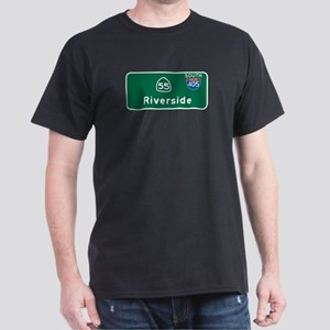 Riverside, CA Highway Sign Dark T-Shirt