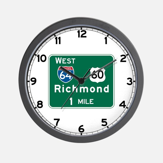 Richmond, VA Highway Sign Wall Clock