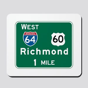 Richmond, VA Highway Sign Mousepad