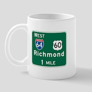 Richmond, VA Highway Sign Mug