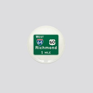 Richmond, VA Highway Sign Mini Button