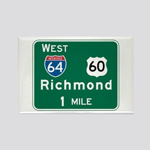 Richmond, VA Highway Sign Rectangle Magnet