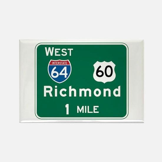 Richmond, VA Highway Sign Rectangle Magnet