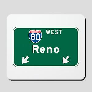 Reno, NV Highway Sign Mousepad
