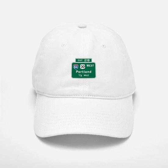 Portland, OR Highway Sign Baseball Baseball Cap