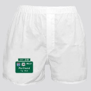 Portland, OR Highway Sign Boxer Shorts