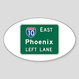Phoenix, AZ Highway Sign Oval Sticker