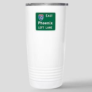 Phoenix, AZ Highway Sign Stainless Steel Travel Mu