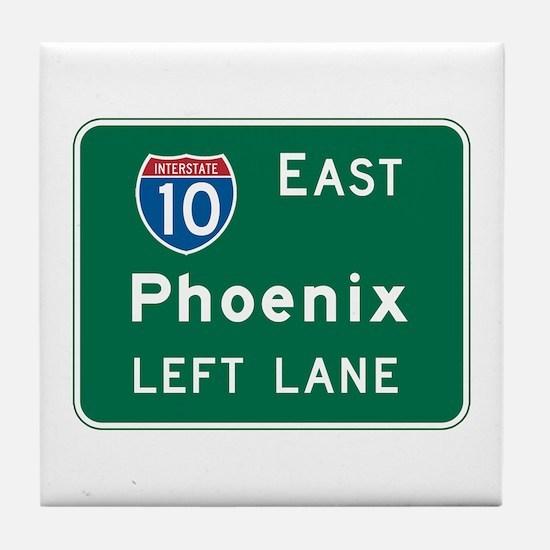 Phoenix, AZ Highway Sign Tile Coaster