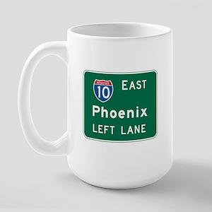 Phoenix, AZ Highway Sign Large Mug