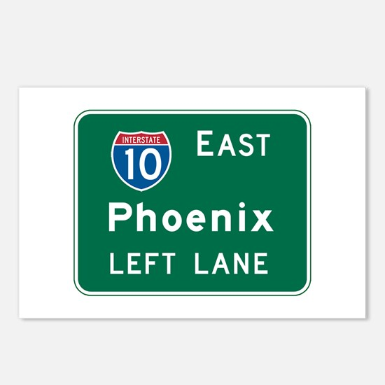 Phoenix, AZ Highway Sign Postcards (Package of 8)