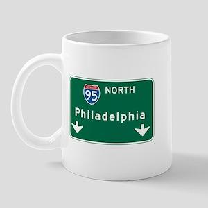 Philadelphia, PA Highway Sign Mug