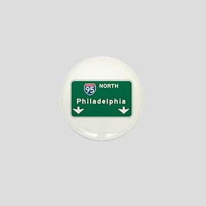 Philadelphia, PA Highway Sign Mini Button