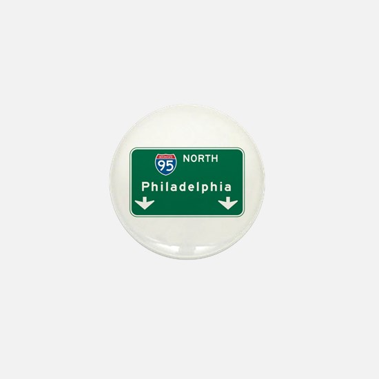 Philadelphia, PA Highway Sign Mini Button