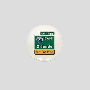 Orlando, FL Highway Sign Mini Button