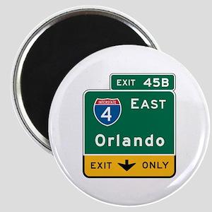 Orlando, FL Highway Sign Magnet