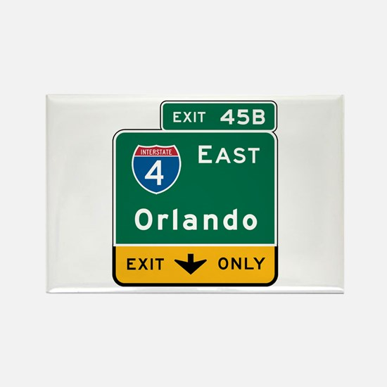 Orlando, FL Highway Sign Rectangle Magnet