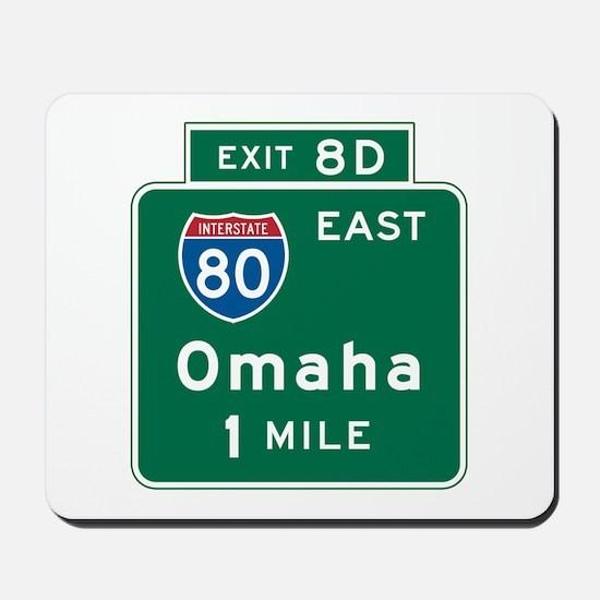 Omaha, NE Highway Sign Mousepad