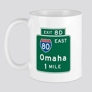 Omaha, NE Highway Sign Mug