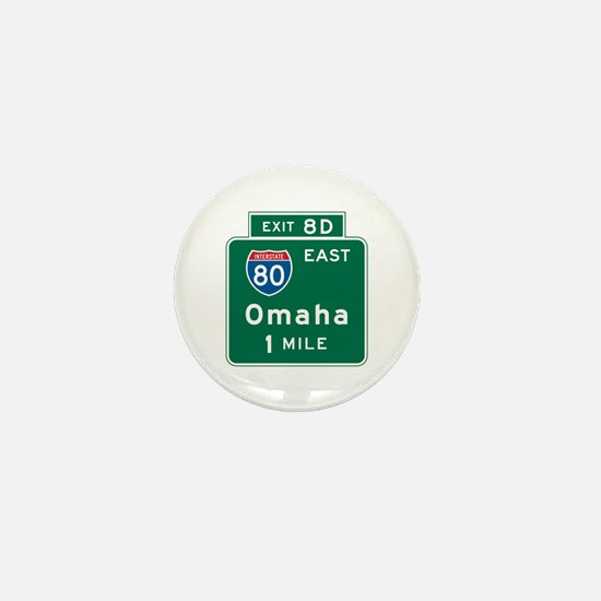Omaha, NE Highway Sign Mini Button