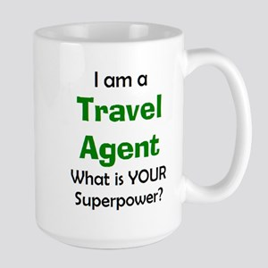travel agent 15 oz Ceramic Large Mug