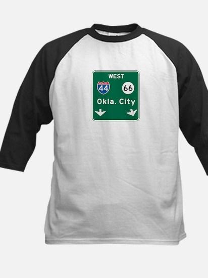 Oklahoma City, OK Highway Sign Kids Baseball Jerse