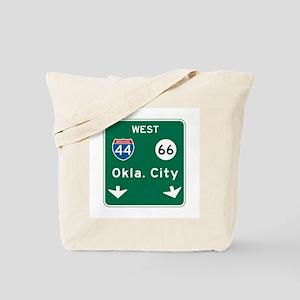 Oklahoma City, OK Highway Sign Tote Bag