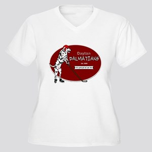 Dayton Dalmatians Women's Plus Size V-Neck T-Shirt