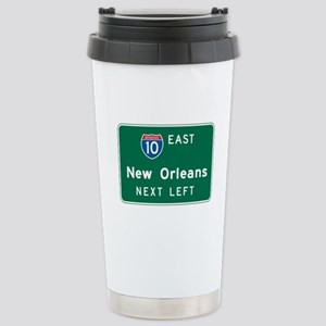 New Orleans, LA Highway Sign Stainless Steel Trave