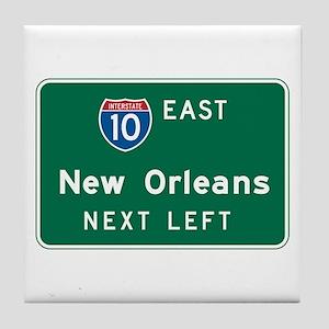 New Orleans, LA Highway Sign Tile Coaster